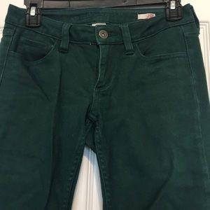 Green Juniors Jeans